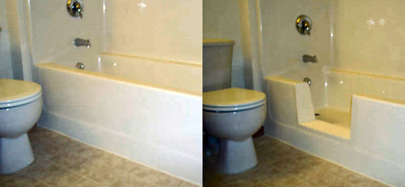 Walk-in Fiberglass Bathtub